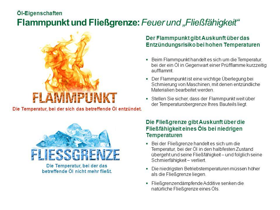 """Öl-Eigenschaften Flammpunkt und Fließgrenze: Feuer und """"Fließfähigkeit"""