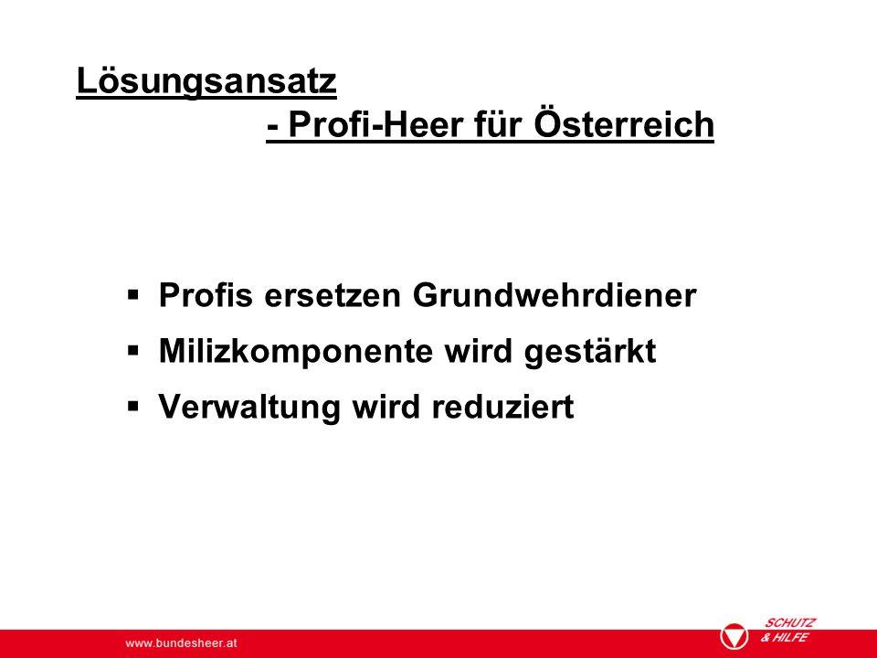 - Profi-Heer für Österreich