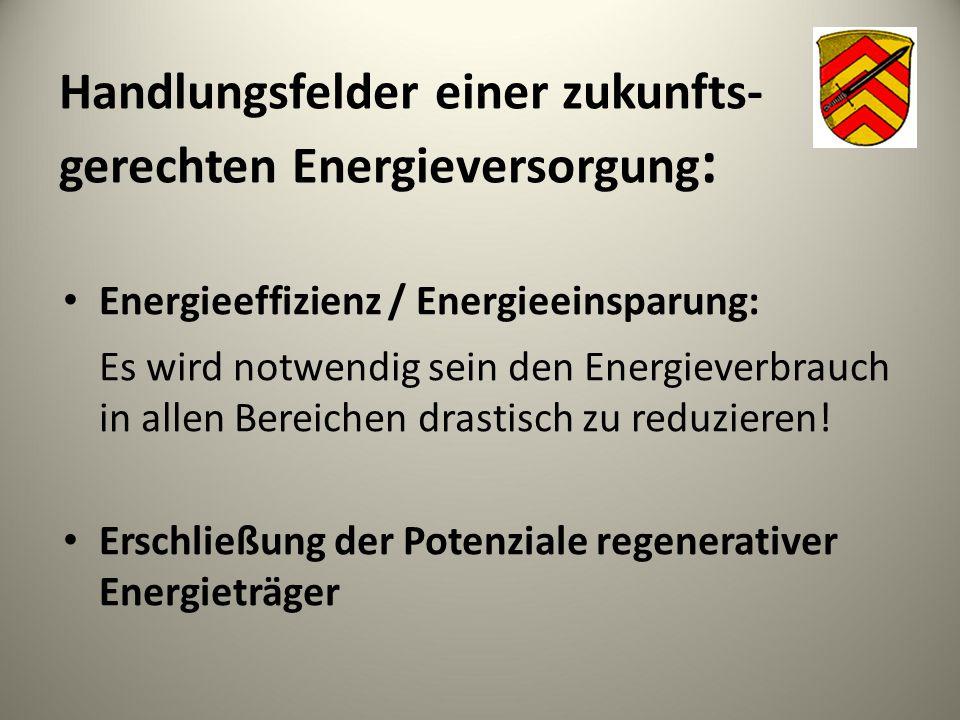 Handlungsfelder einer zukunfts-gerechten Energieversorgung: