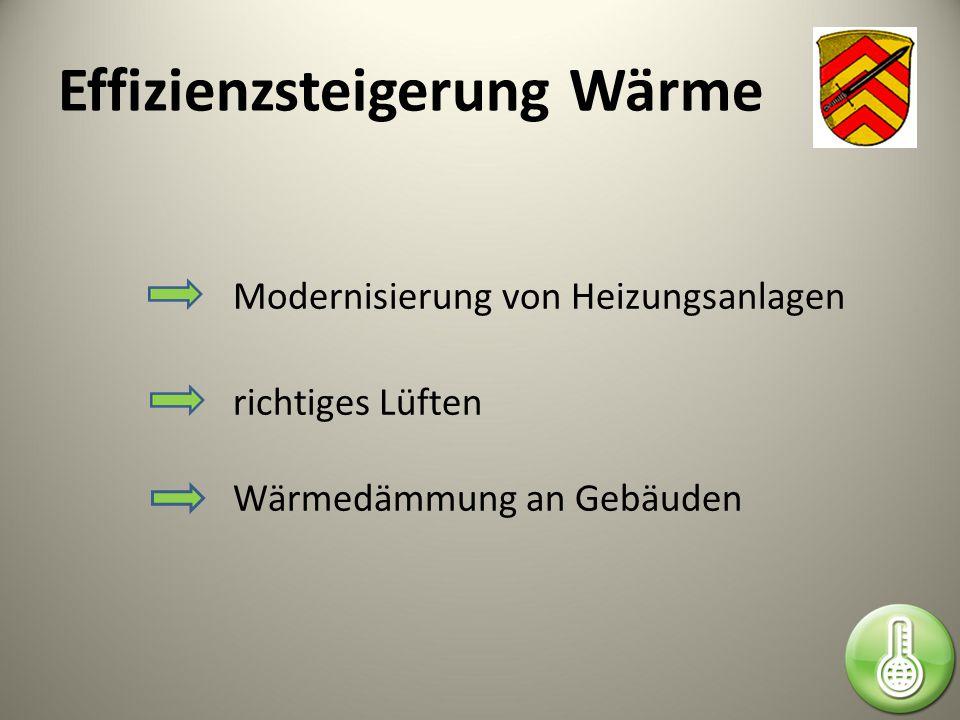 Effizienzsteigerung Wärme