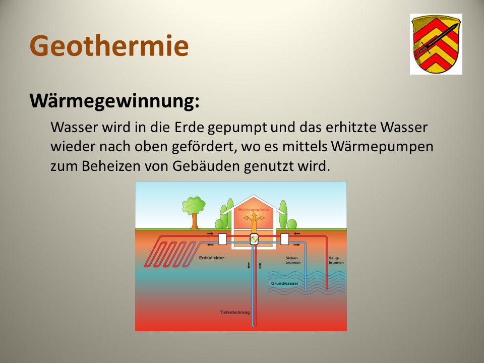 Geothermie Wärmegewinnung: