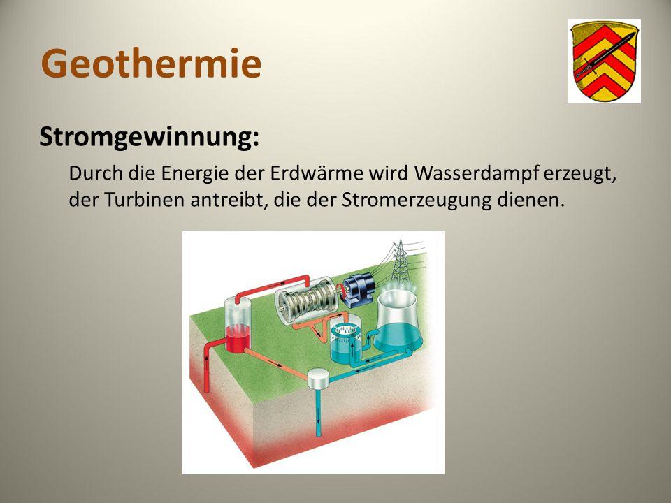 Geothermie Stromgewinnung: