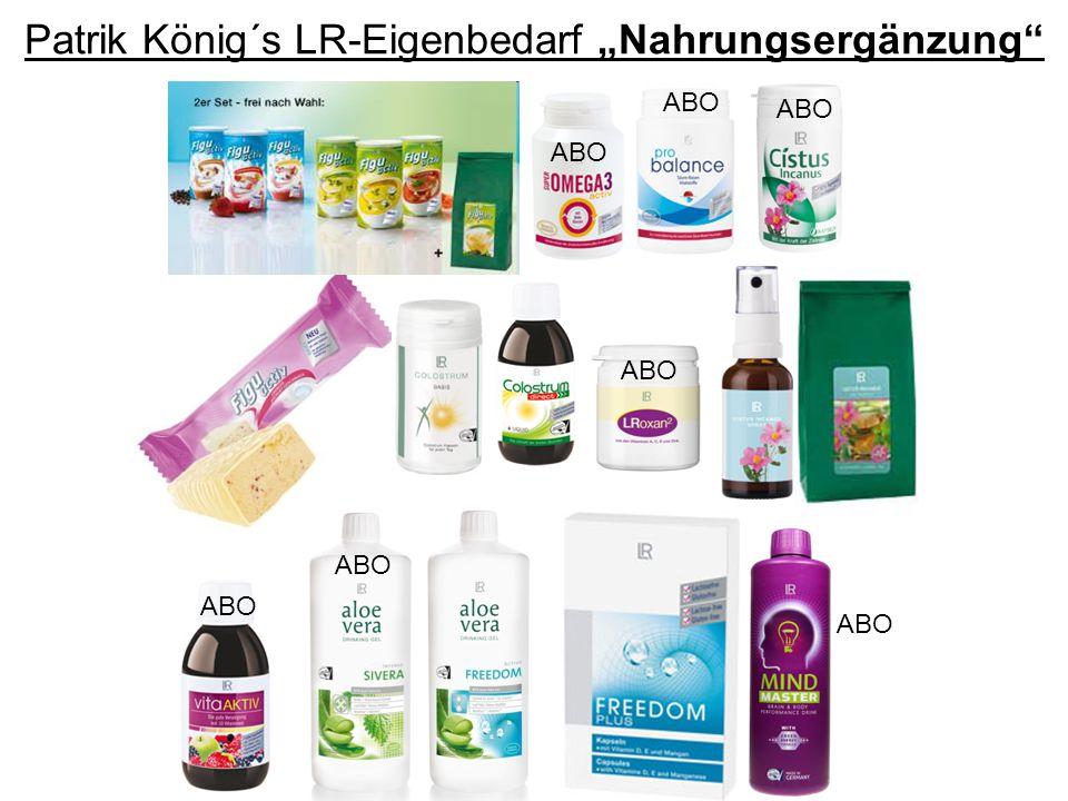 """Patrik König´s LR-Eigenbedarf """"Nahrungsergänzung"""