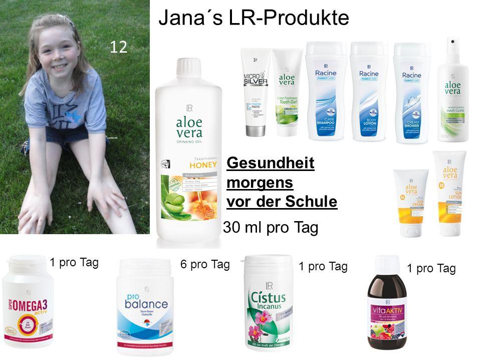 Jana´s LR-Produkte 12 Gesundheit morgens vor der Schule 30 ml pro Tag