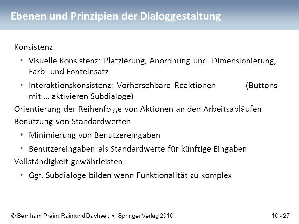 Ebenen und Prinzipien der Dialoggestaltung