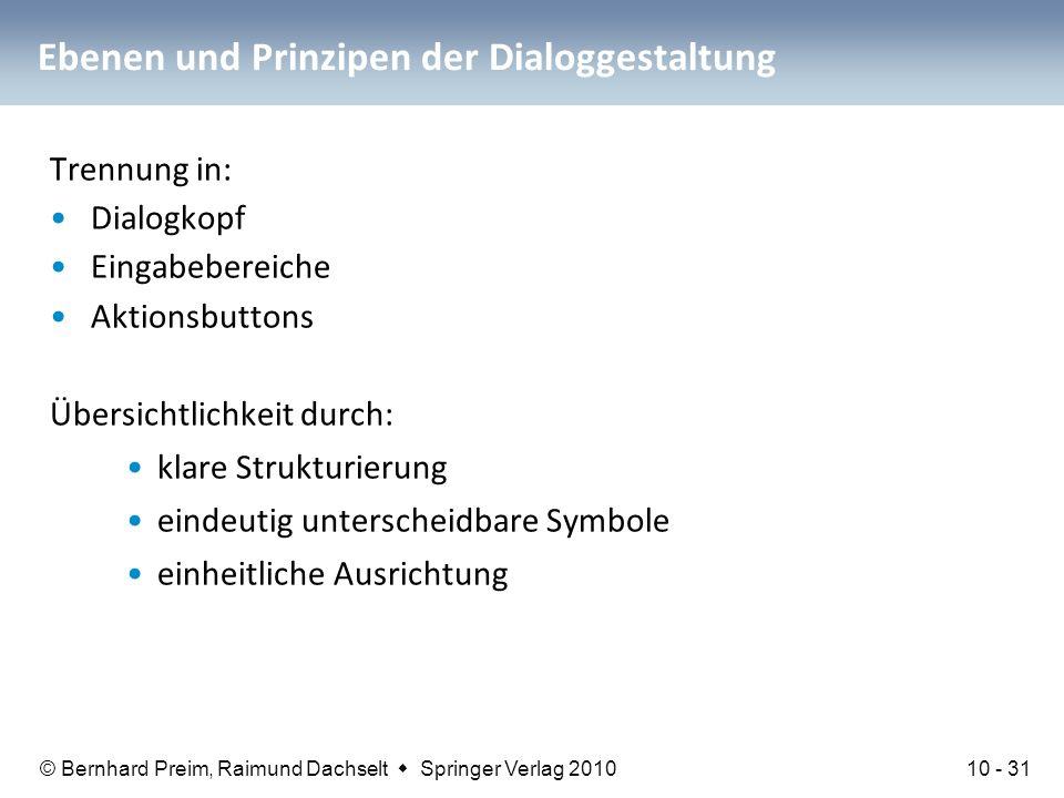 Ebenen und Prinzipen der Dialoggestaltung
