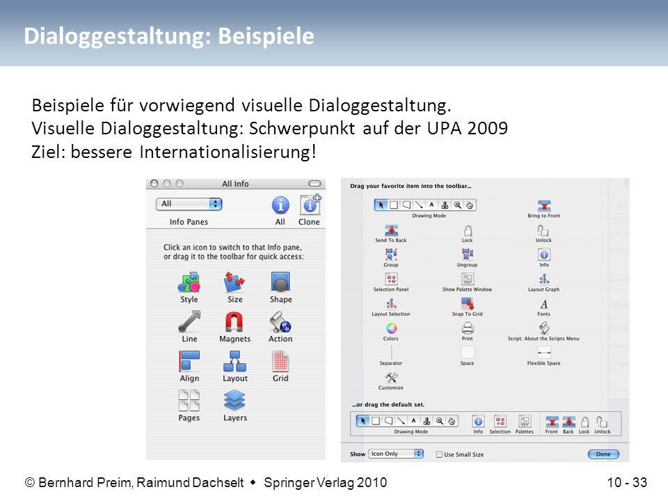 Dialoggestaltung: Beispiele