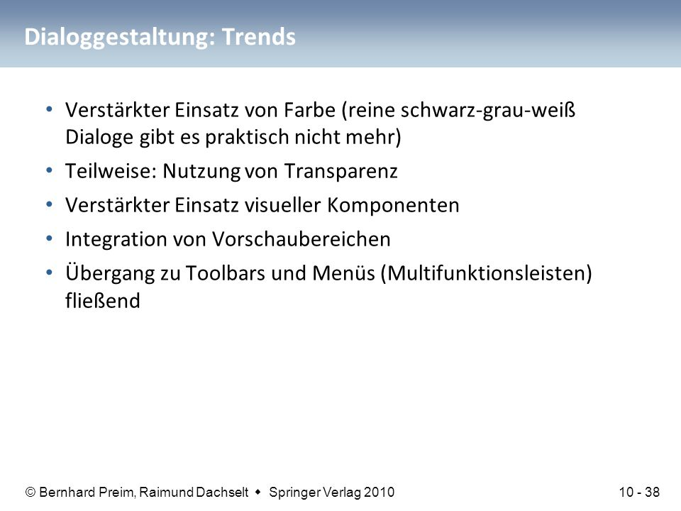 Dialoggestaltung: Trends