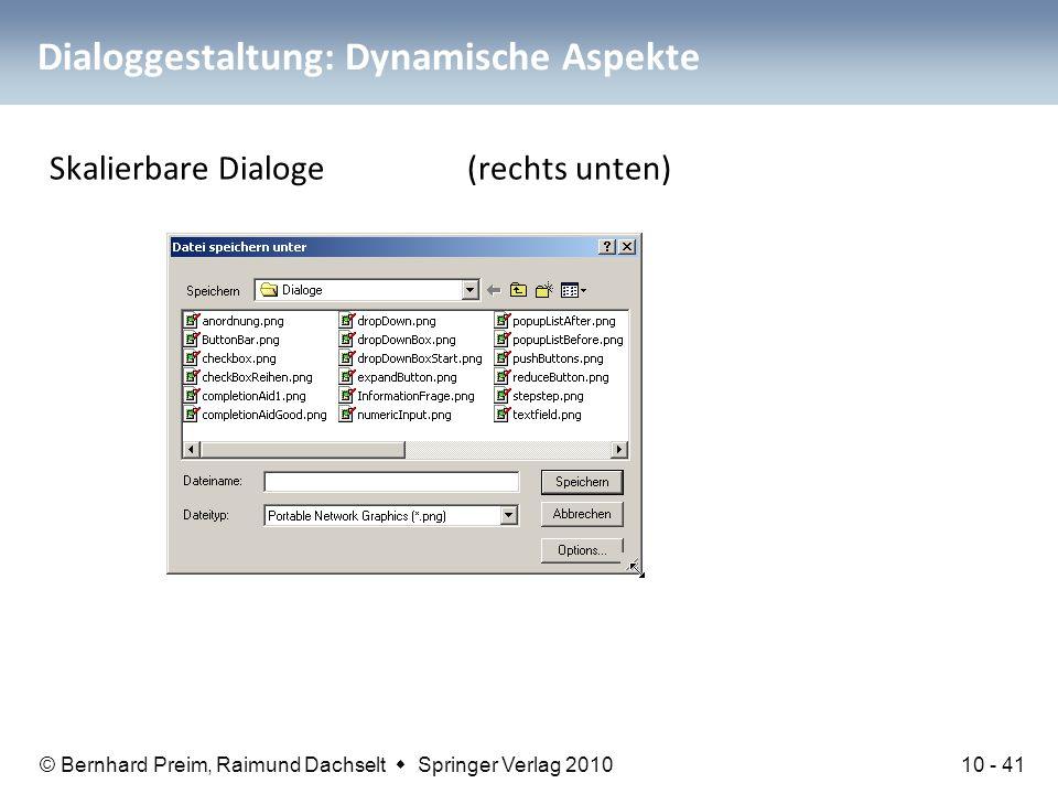 Dialoggestaltung: Dynamische Aspekte