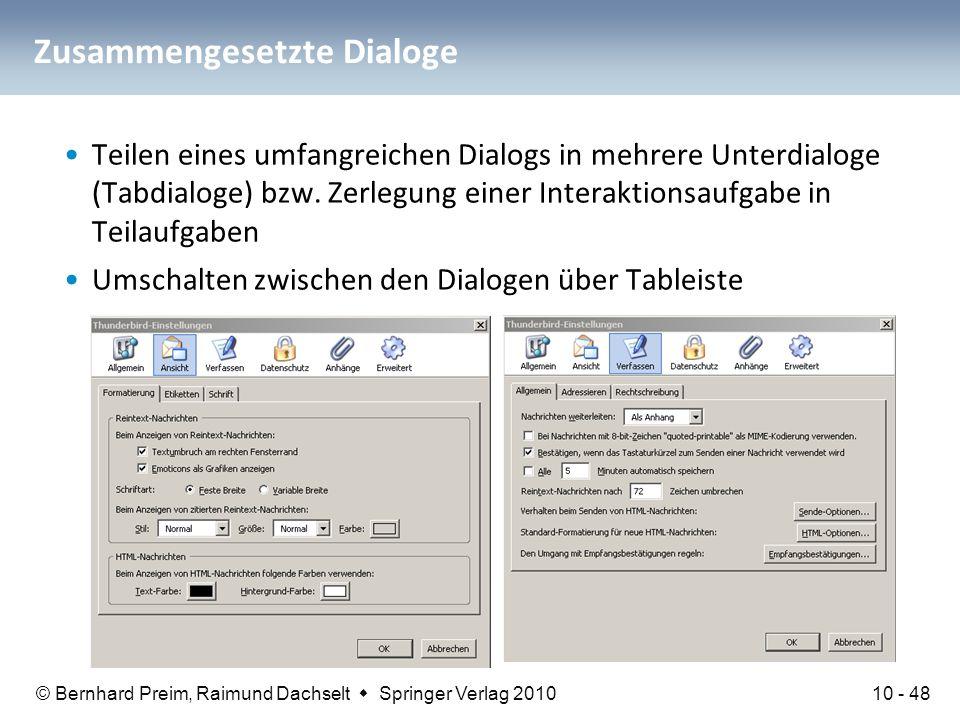 Zusammengesetzte Dialoge