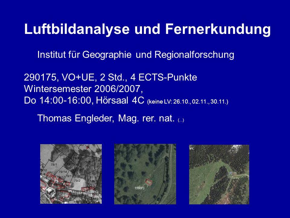Luftbildanalyse und Fernerkundung