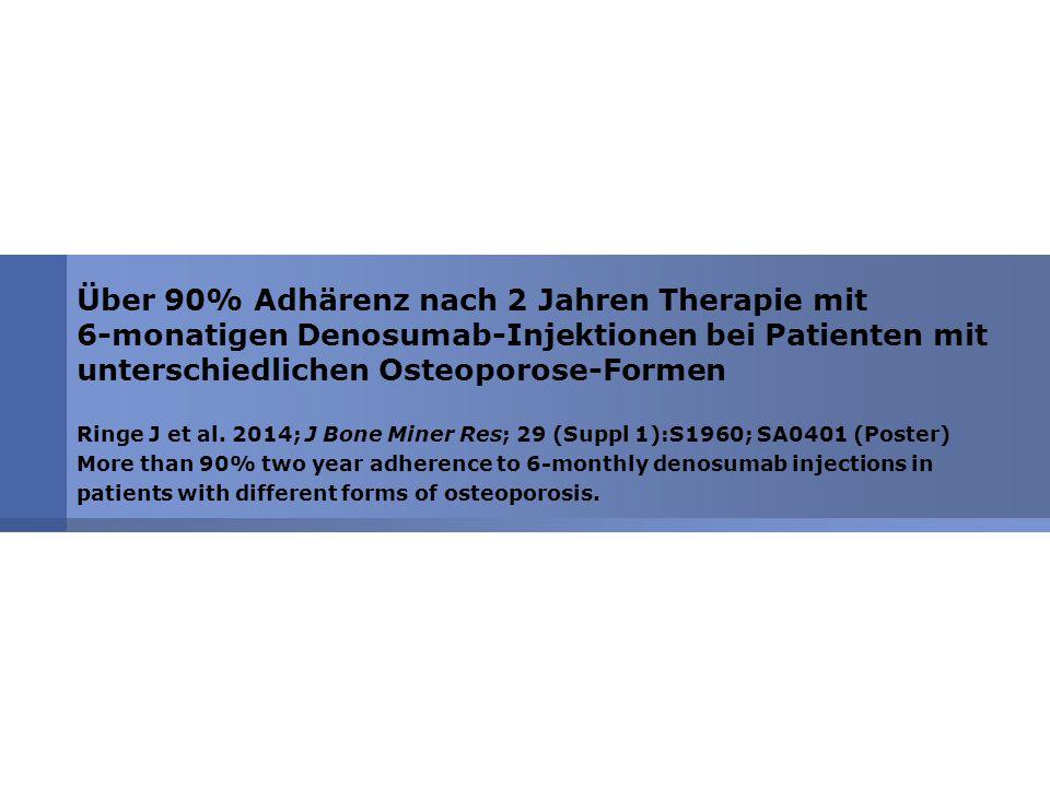 Über 90% Adhärenz nach 2 Jahren Therapie mit 6-monatigen Denosumab-Injektionen bei Patienten mit unterschiedlichen Osteoporose-Formen