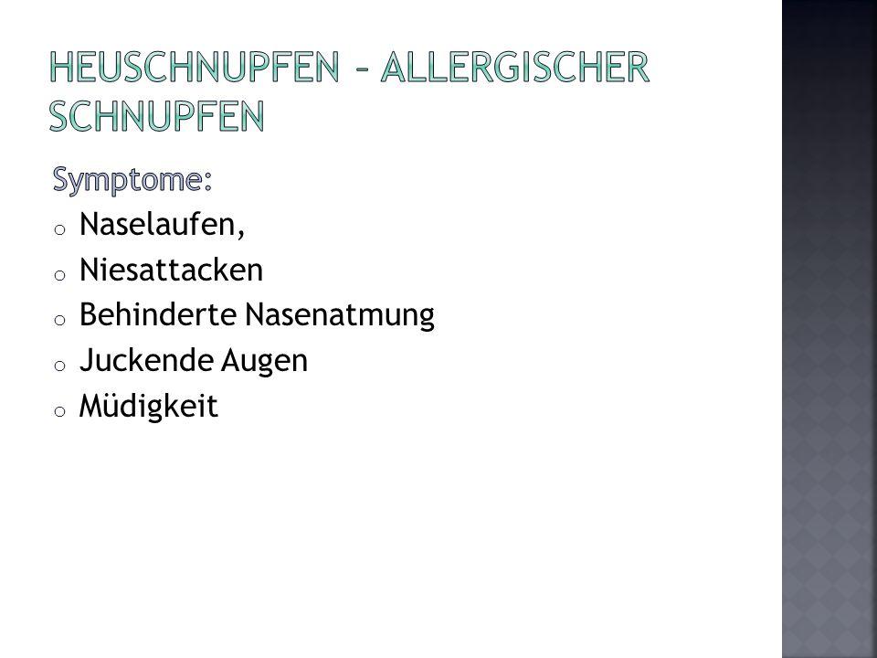 Heuschnupfen – allergischer Schnupfen