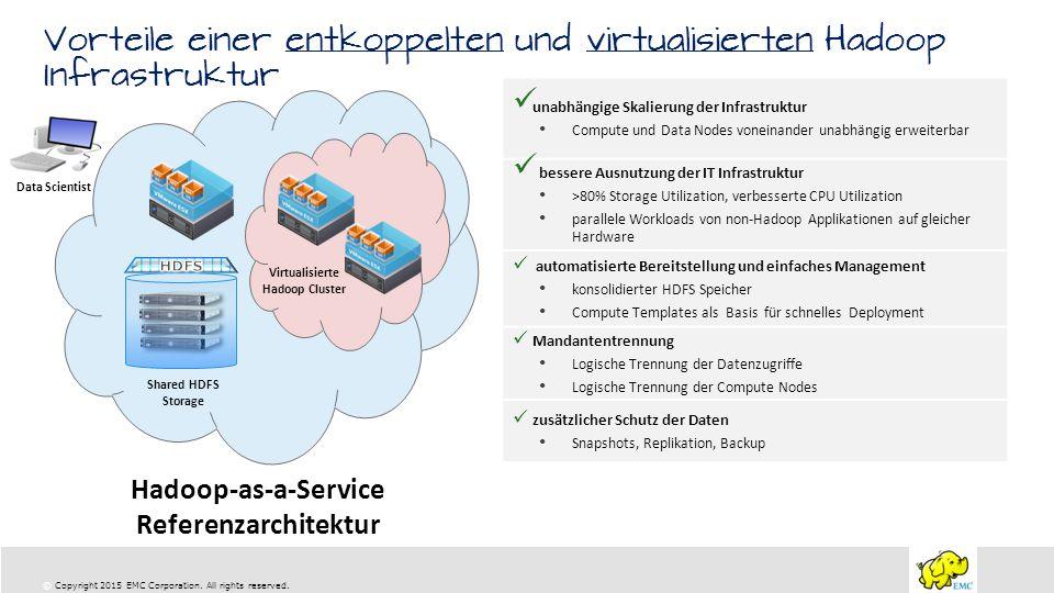 Vorteile einer entkoppelten und virtualisierten Hadoop Infrastruktur