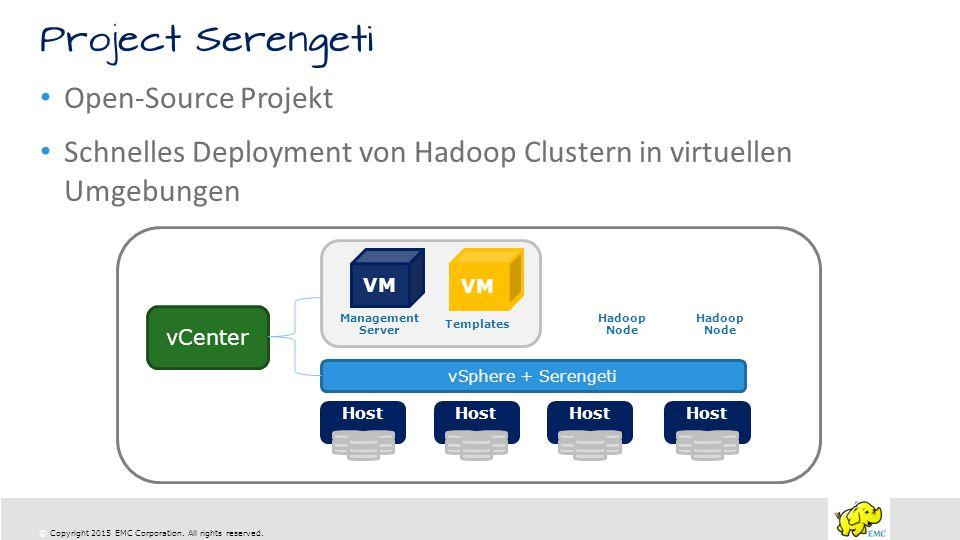 Schnelles Deployment von Hadoop Clustern in virtuellen Umgebungen