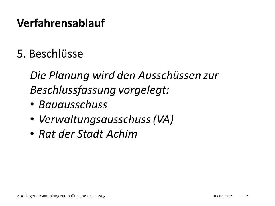 Die Planung wird den Ausschüssen zur Beschlussfassung vorgelegt:
