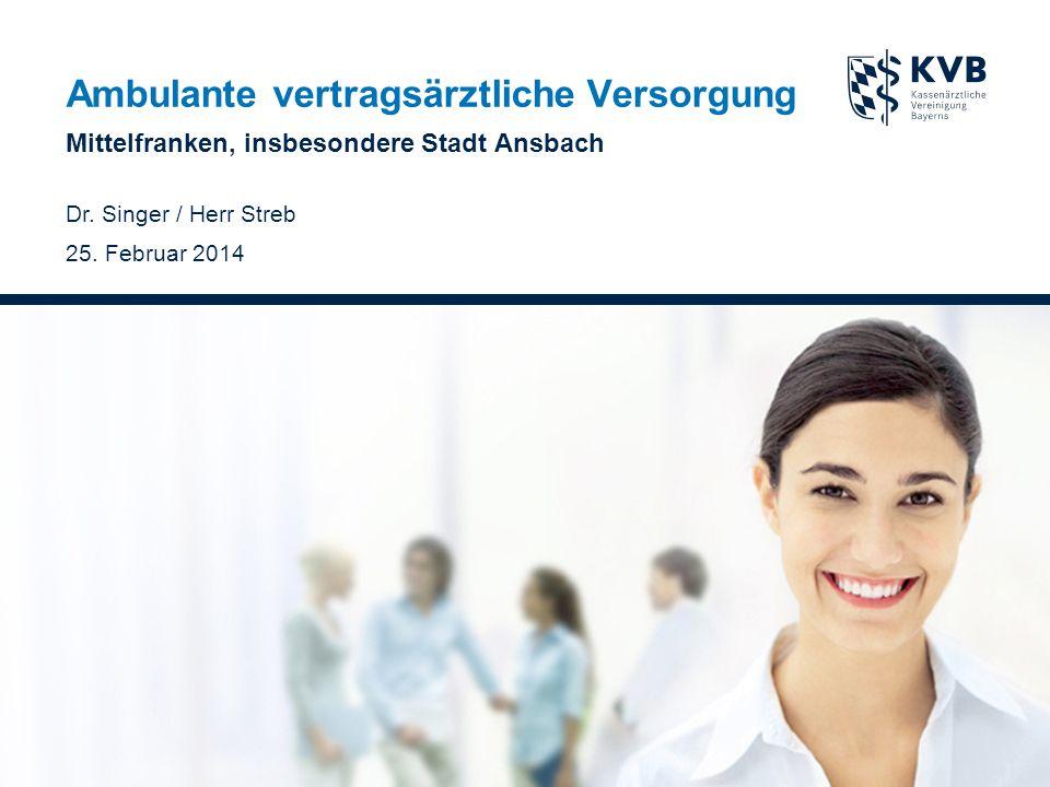 Ambulante vertragsärztliche Versorgung Mittelfranken, insbesondere Stadt Ansbach