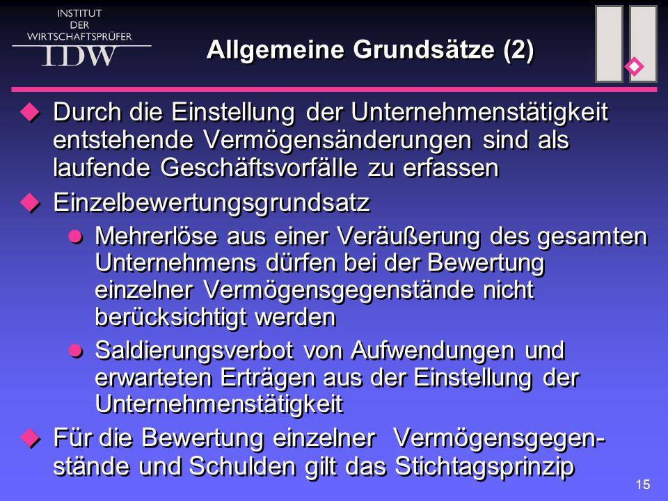 Allgemeine Grundsätze (2)
