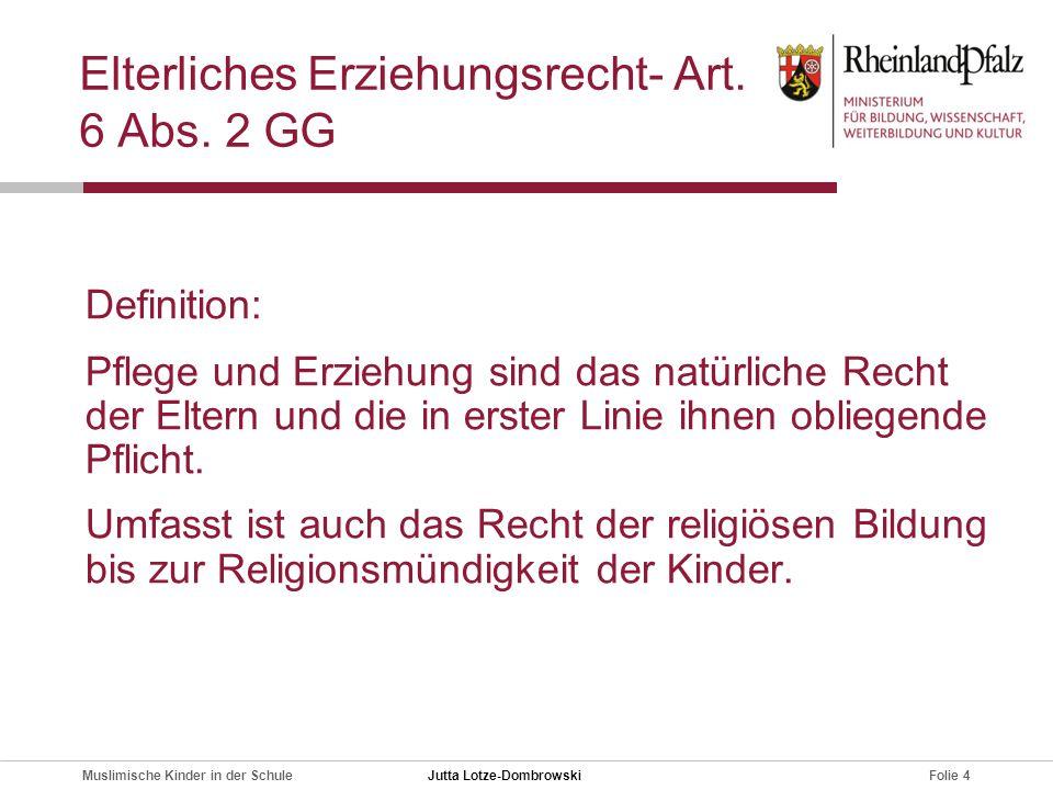 Elterliches Erziehungsrecht- Art. 6 Abs. 2 GG