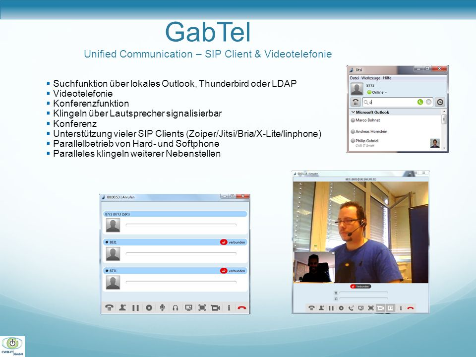 GabTel Unified Communication – SIP Client & Videotelefonie