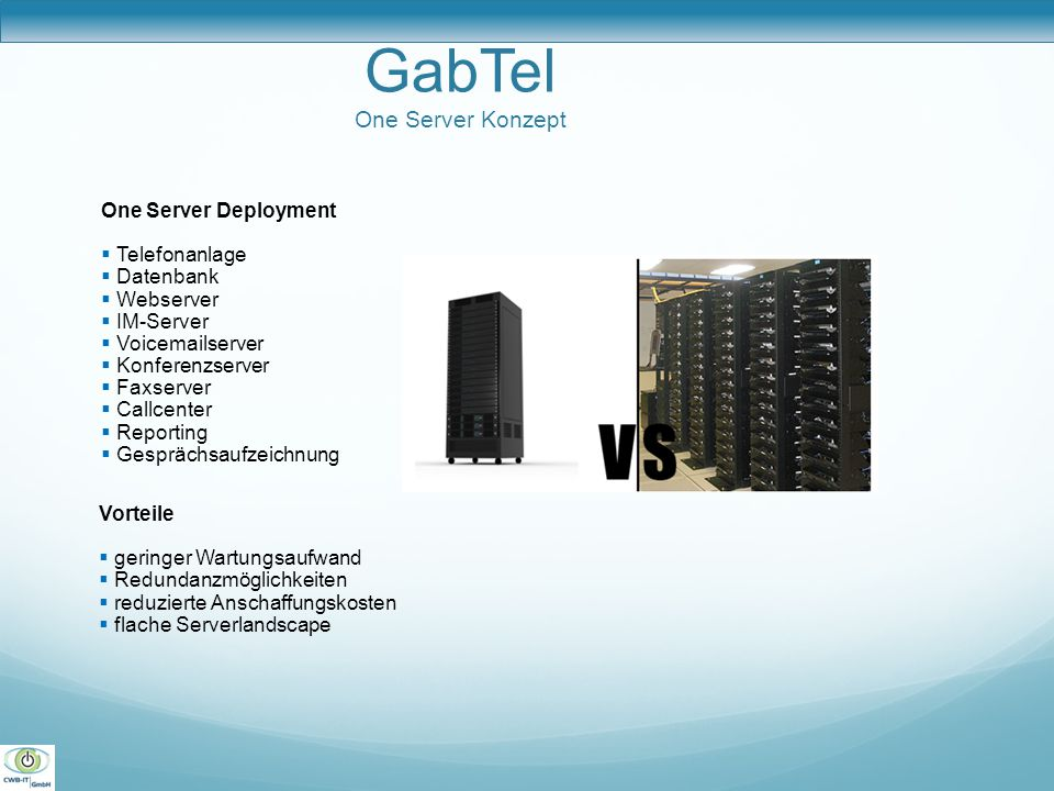 GabTel One Server Konzept