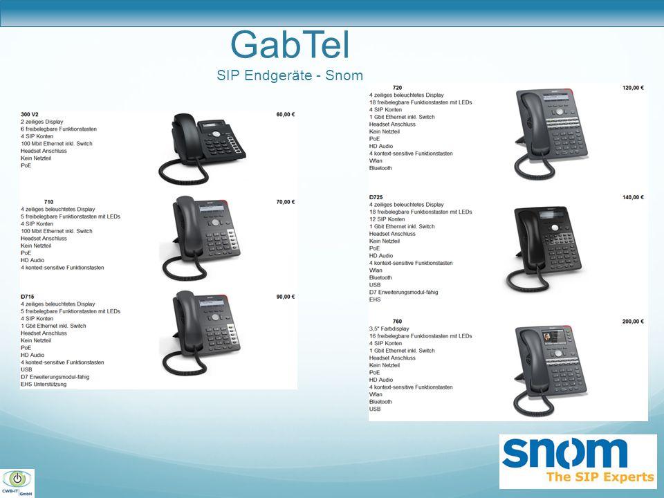 GabTel SIP Endgeräte - Snom