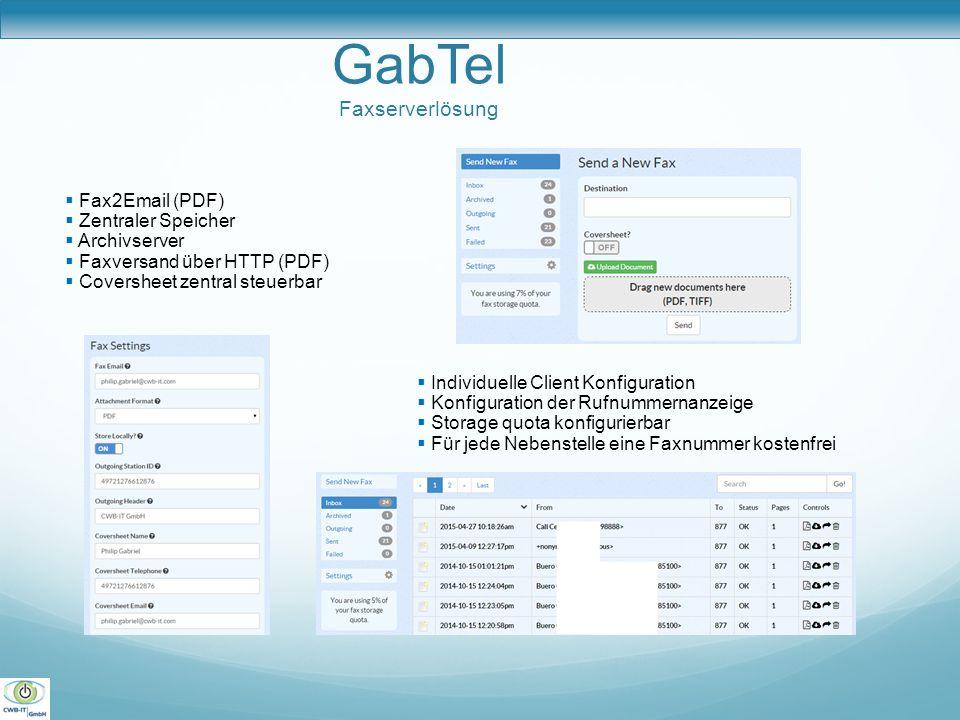 GabTel Faxserverlösung