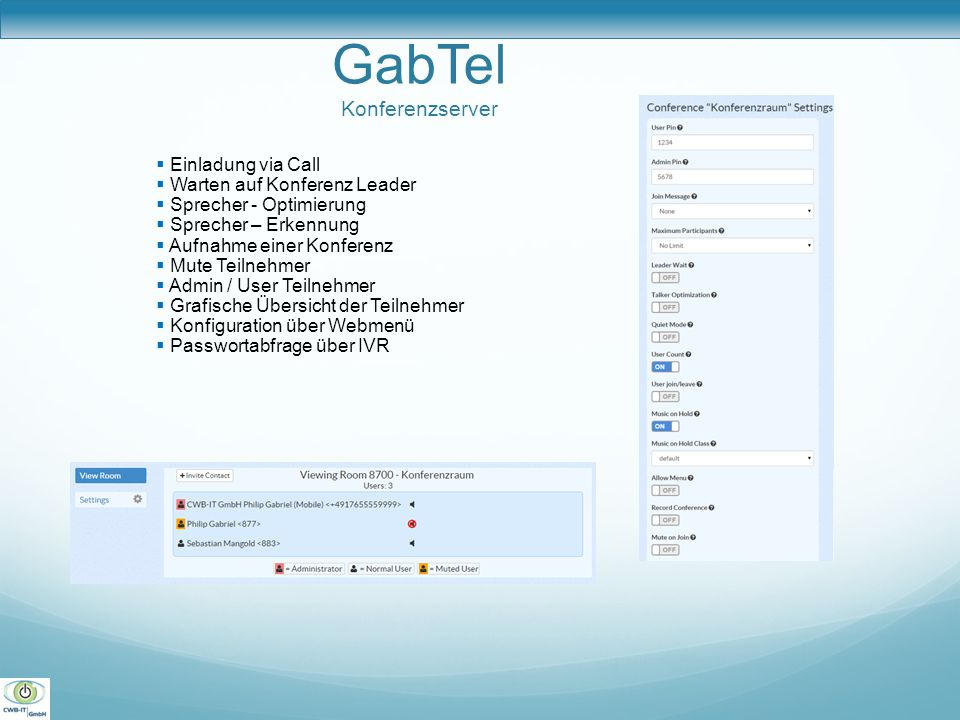 GabTel Konferenzserver
