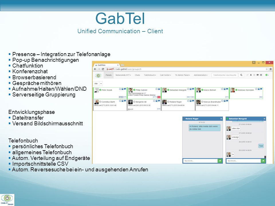 GabTel Unified Communication – Client