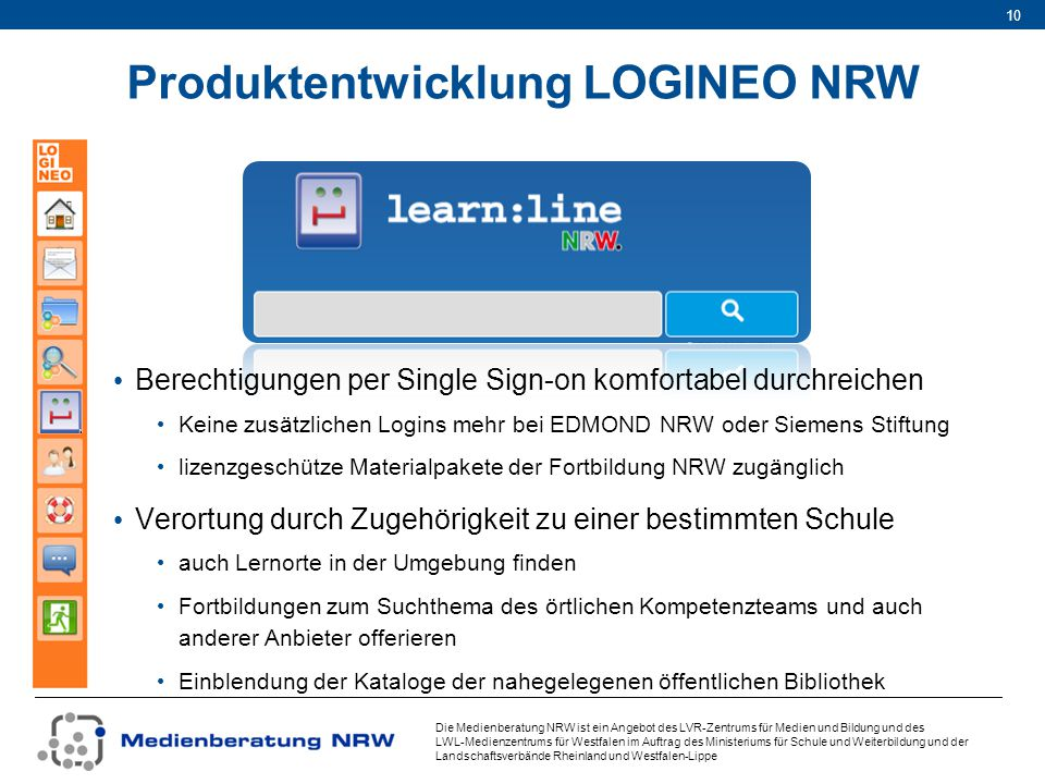 Produktentwicklung LOGINEO NRW