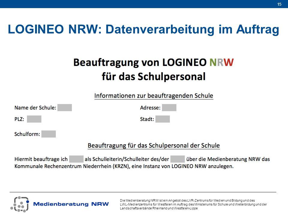 LOGINEO NRW: Datenverarbeitung im Auftrag