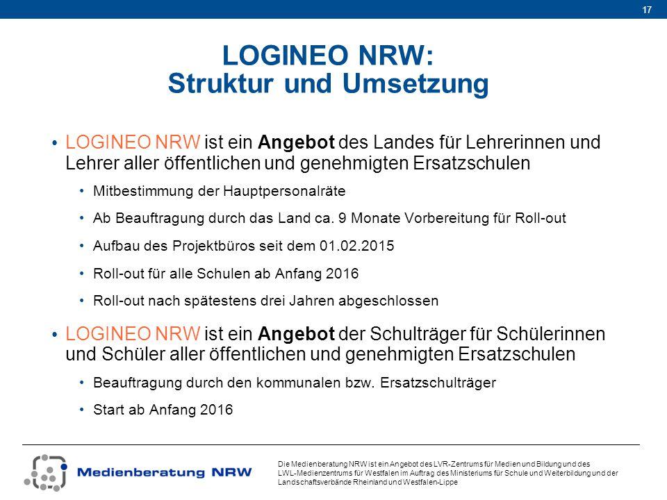LOGINEO NRW: Struktur und Umsetzung
