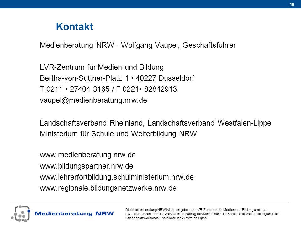 Kontakt Medienberatung NRW - Wolfgang Vaupel, Geschäftsführer