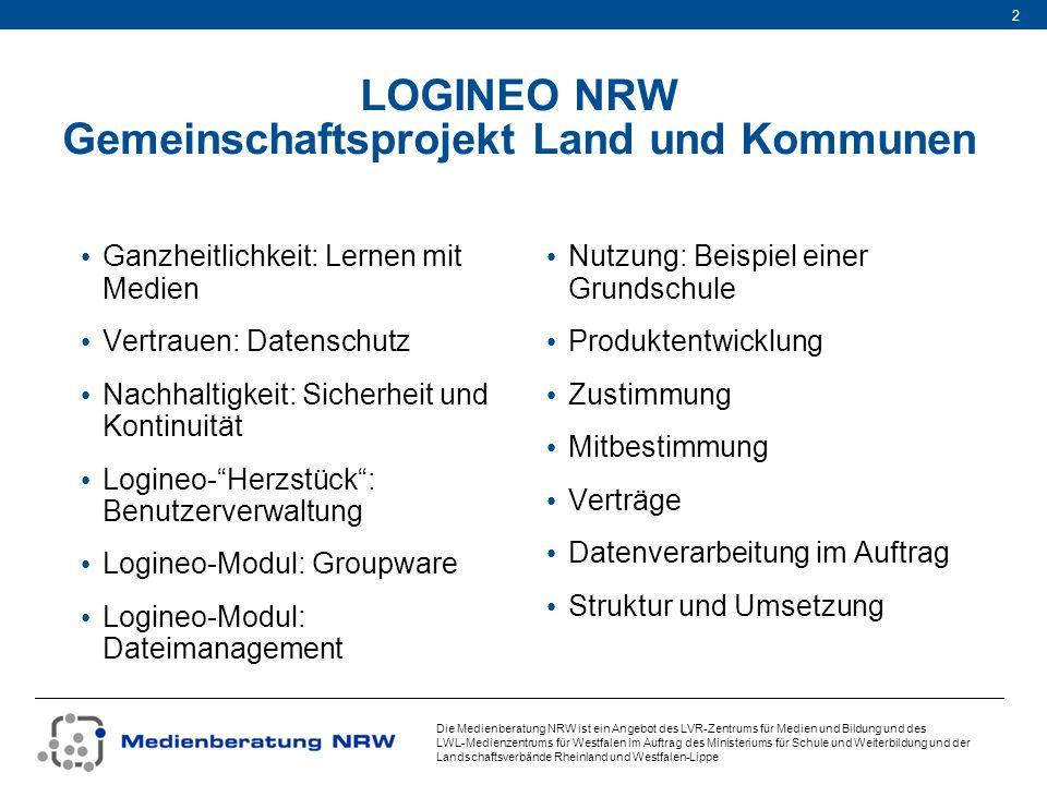 LOGINEO NRW Gemeinschaftsprojekt Land und Kommunen