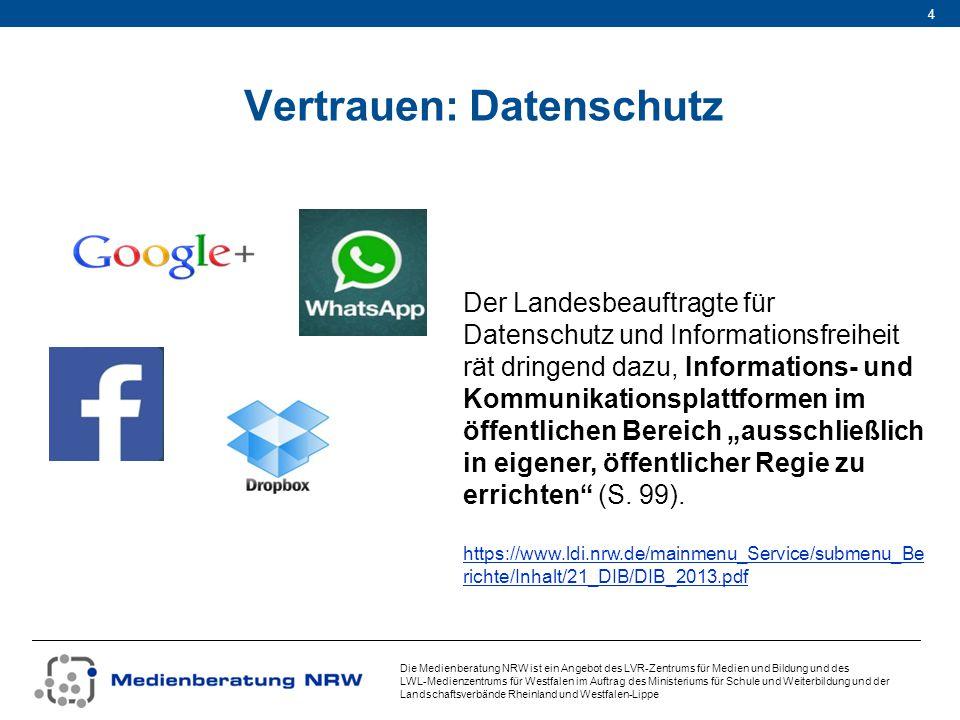 Vertrauen: Datenschutz