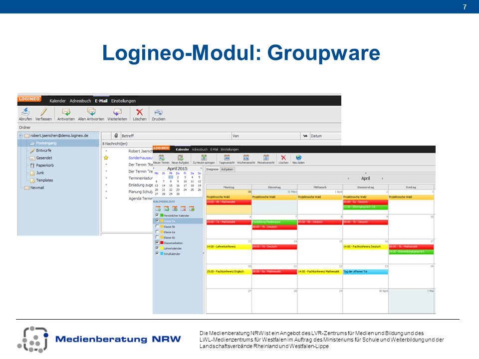Logineo-Modul: Groupware