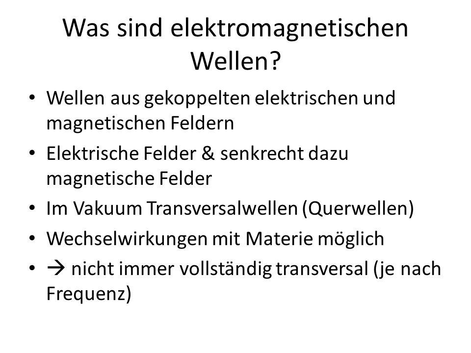 Was sind elektromagnetischen Wellen