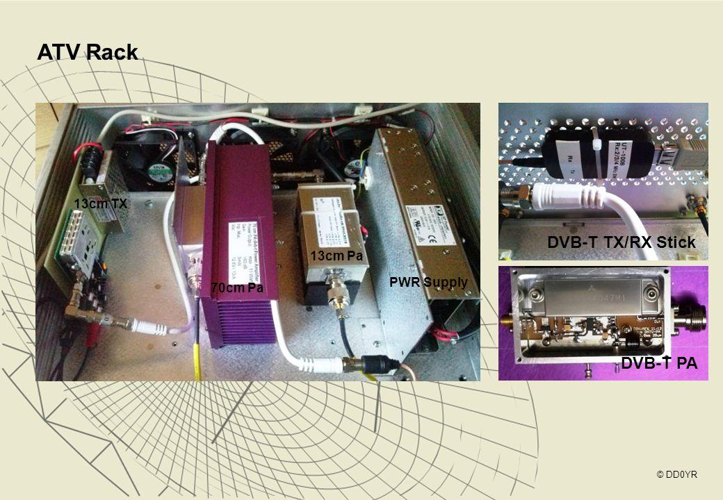 ATV Rack DVB-T TX/RX Stick DVB-T PA 13cm TX 13cm Pa PWR Supply 70cm Pa