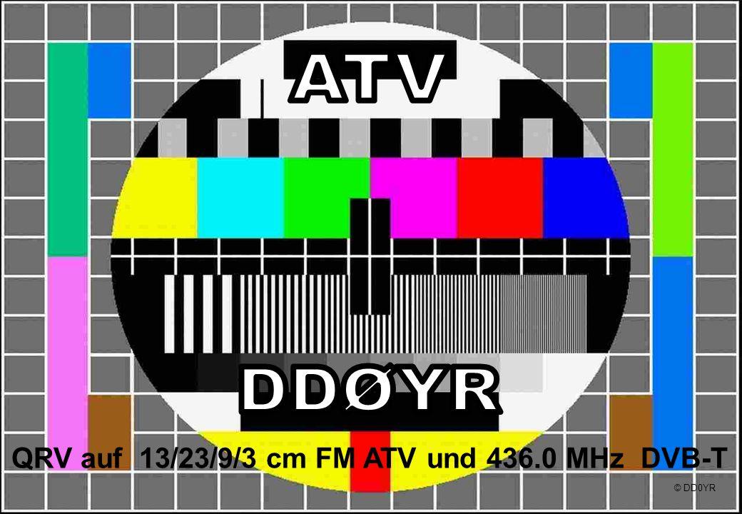 QRV auf 13/23/9/3 cm FM ATV und 436.0 MHz DVB-T