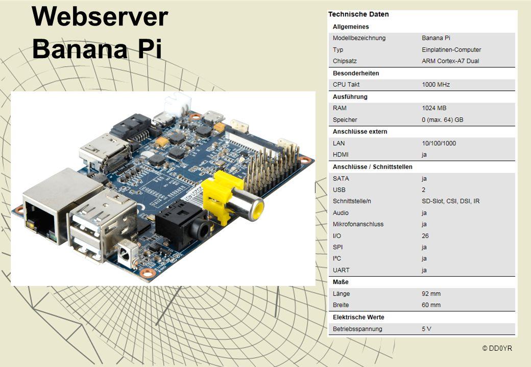 Webserver Banana Pi © DD0YR