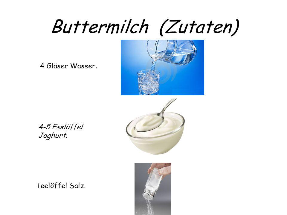 Buttermilch (Zutaten)