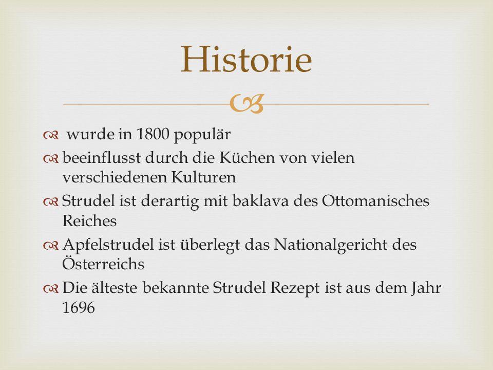 Historie wurde in 1800 populär