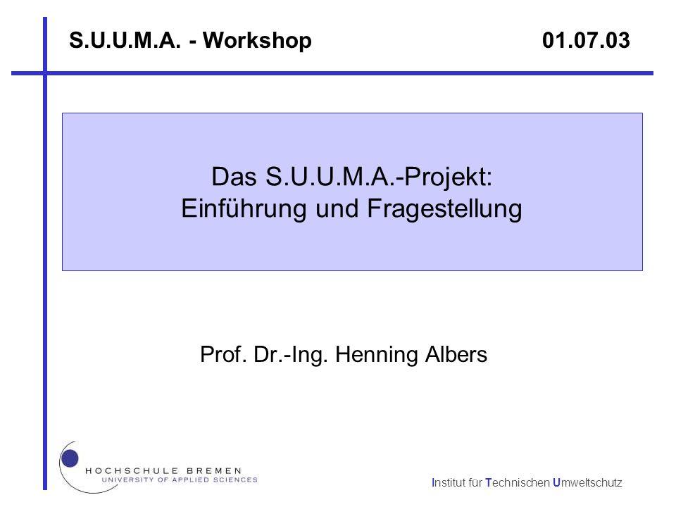 Das S.U.U.M.A.-Projekt: Einführung und Fragestellung