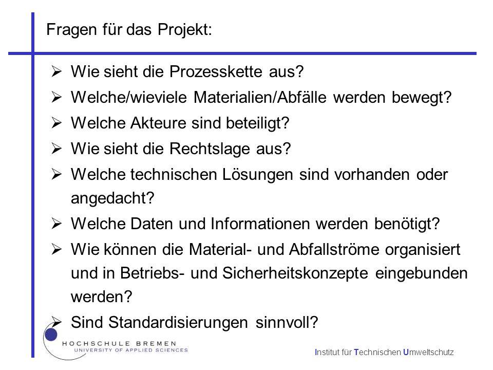 Fragen für das Projekt: