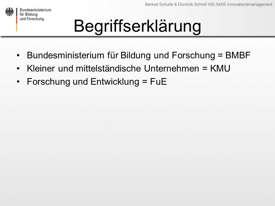 Begriffserklärung Bundesministerium für Bildung und Forschung = BMBF