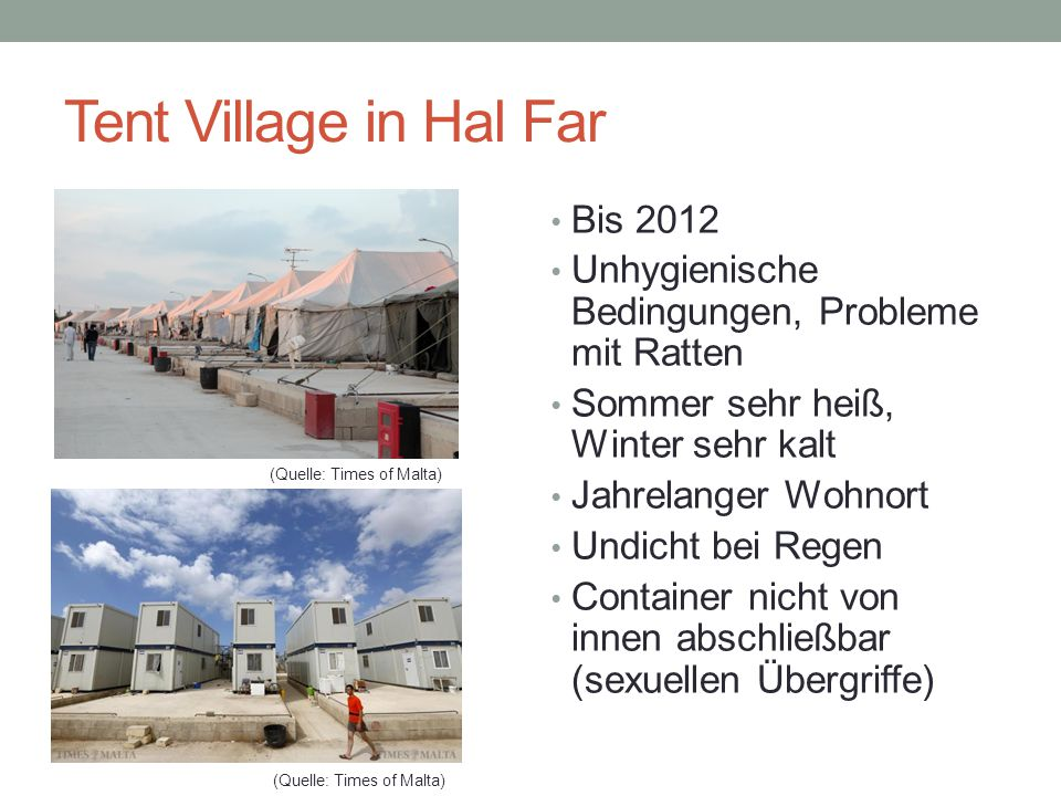 Tent Village in Hal Far Bis 2012