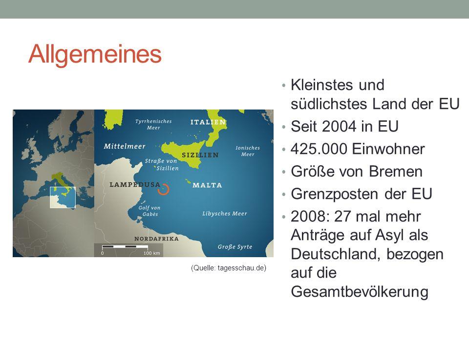 Allgemeines Kleinstes und südlichstes Land der EU Seit 2004 in EU