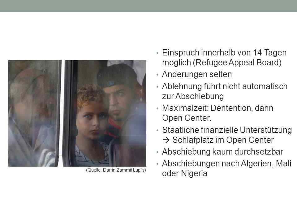 Einspruch innerhalb von 14 Tagen möglich (Refugee Appeal Board)