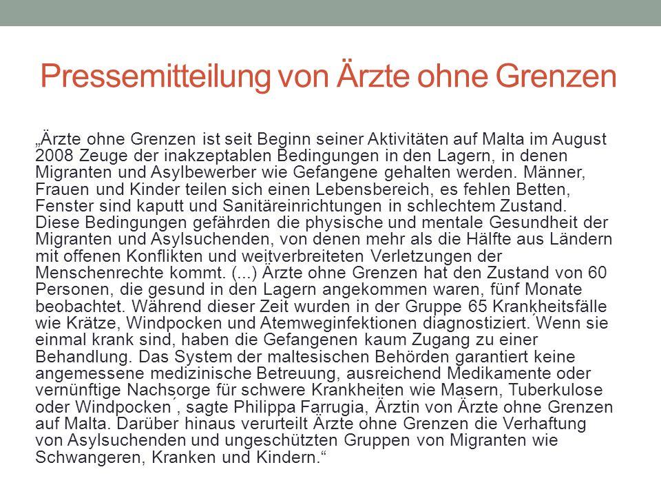 Pressemitteilung von Ärzte ohne Grenzen