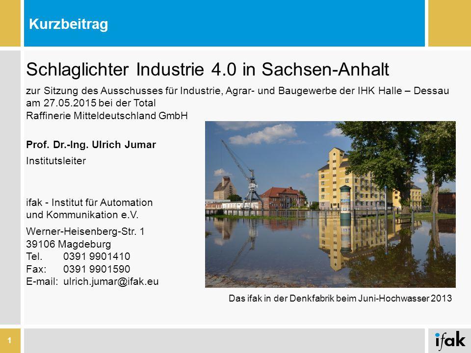 Schlaglichter Industrie 4.0 in Sachsen-Anhalt